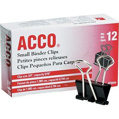 Acco Small Binder Clips 516 Capacity 96 Count 72020