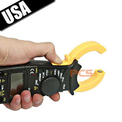 Digital Electronic Ac Dc Voltage Clamp Meter Multimeter Current Volt Testerlead