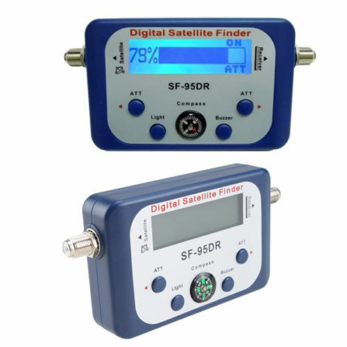 Satellite Signal Finder Analog Dish DirectTV Strength Meter Buzzer Compass FTA