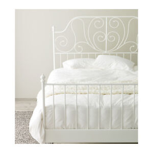 Double bed frame for sale - White
