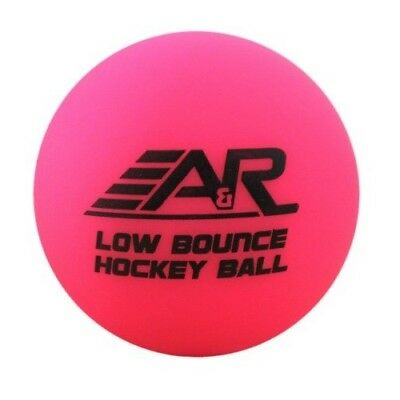 A&R Roller Street Floor Hockey Low Bounce Ball, Pink, Cool Temperature Use