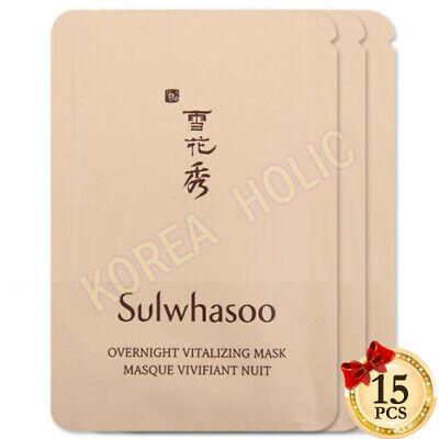 AMORE PACIFIC Sulwhasoo Overnight Vitalizing Mask 15pcs Korean Cosmetics NEW
