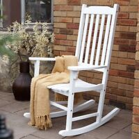 Painted White Rocking Chair