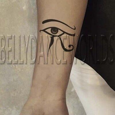 1 PAIR LEFT AND RIGHT EGYPTIAN EYE OF HORUS EYE OF RA TRIBAL TEMPORARY (Eye Of Ra And Eye Of Horus)