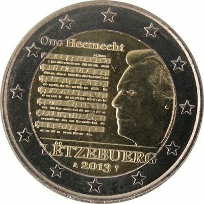 2 EURO COMMEMORATIVE LUXEMBOURG 2013 Hymme Nationale - UNC