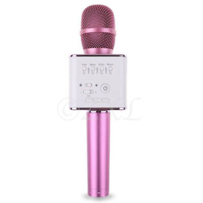 Q9 Mini Wireless Bluetooth Karaoke Microphone Speaker Home KTV USB Player Pink, used for sale  Shipping to India