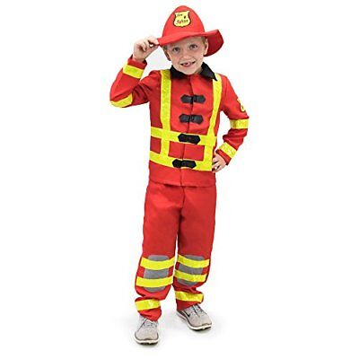 Children's Firefighter Halloween Costume (Flamin' Firefighter Children's Halloween Dress Up Theme Party Roleplay)