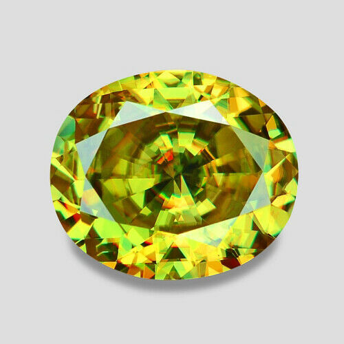 1.68CTS EXCELLENT CUSTOM CUT NATURAL YELLOWISH GREEN SPHENE VIDEO IN DESCRIPTION