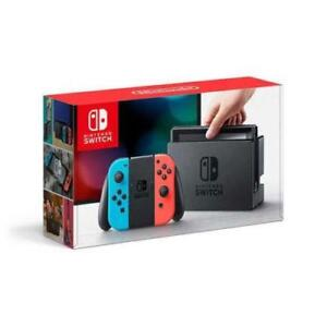 BRAND NEW NINTENDO SWITCH CONSOLE RED BLUE JOYCONS SEALED