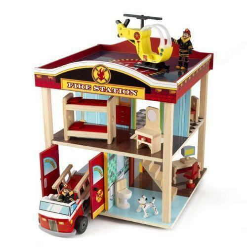 Kidkraft Fire Station Preschool Toys Amp Pretend Play Ebay