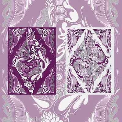 Floral Purple Unbranded Deck Playing Cards Poker Size USPCC Limited Ed. Sealed