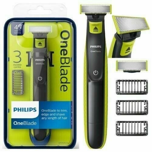 Philips One Blade Trimmer Shaver Beard Stubble 3 Combs ...