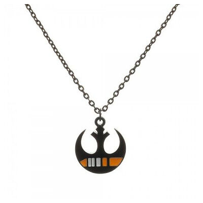 STAR WARS BLACK SQUADRON REBEL ALLIANCE PENDANT ON NECKLACE (OFFICIAL)