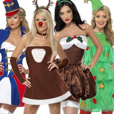 Sexy Ladies Christmas Fancy Dress Festive Xmas Holiday Womens Costume Outfit (Sexy Holiday Outfits)
