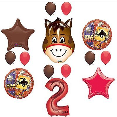 Wild West Cowboy Western 2nd Birthday Party Supplies and Balloon Decorations - Cowboy Birthday Party Supplies