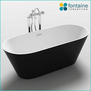 Monroe Freestanding Bath Tub Bathtub Round Elegant Bathroom Black 1700 NEW!