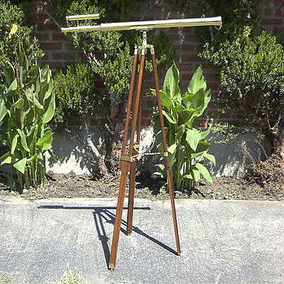 "Griffith Astro Floor Standing Brass Telescope 38"" Tripod Nautical Maritime Decor"