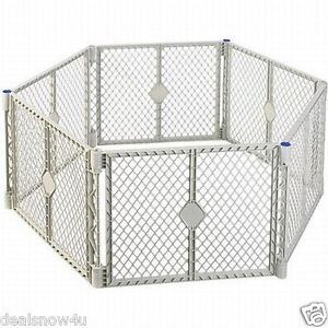 Baby and Toddler Plastic Play Yard Playpen Big Gate Dog Pet Safety Gate Portable