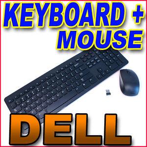 genuine dell wireless mouse and keyboard combo kit km632 m6m5f 8vxg2 kg 1089 ebay. Black Bedroom Furniture Sets. Home Design Ideas