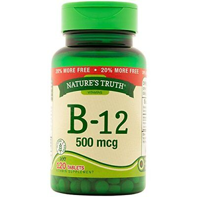 Natures Truth Vitamin B-12 Tablets 500mcg 120 Count Each (500 Mcg 120 Tablets)