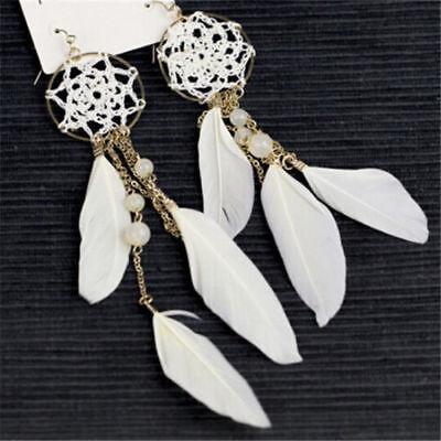 Fashion Bohemia Weave Dreamcatcher Feather Ear Hook Drop/Dangle Earrings - Dreamcatcher Jewelry