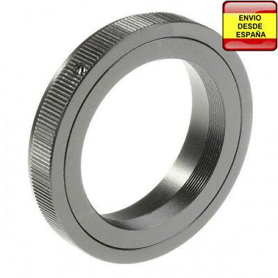 Anillo adaptador lentes de rosca T2 a Canon EOS 1200D 1000D 700D...
