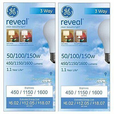 GE Lighting 97785 50/100/150-Watt A21 3-Way Reveal Light Bul