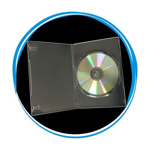 200 Clear Transparent 7mm Slim Single Cd Dvd Movie Case S...