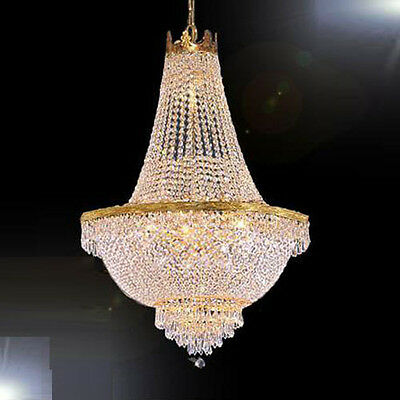"""French Empire Crystal Chandelier Chandeliers Lighting H30"""" X W24"""""""