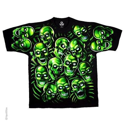 JUICY J  SKULL PILE SKELETON GOUL GOTH DEMON SCARY BIKER SHIRT L-2XL (Scary Demons)