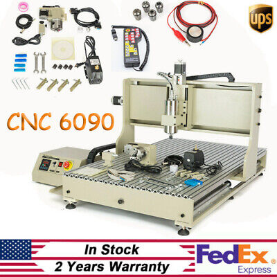 4 Axis 6090 Cnc Router Milling Engraving Machine Spindle Usb Engraverhandweel