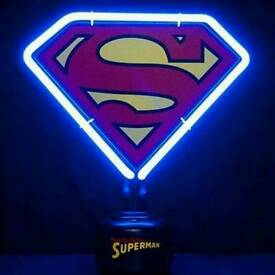 DC Comics Superman Neon Light Boxed