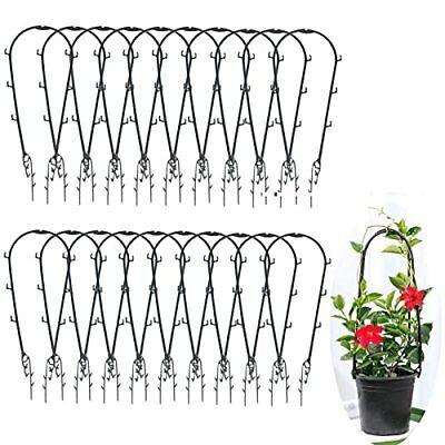 40 Stück Rankhilfe Garten-Pflanzenstütze Rankgitter Rankkäfige Topfpflanzen-Rank
