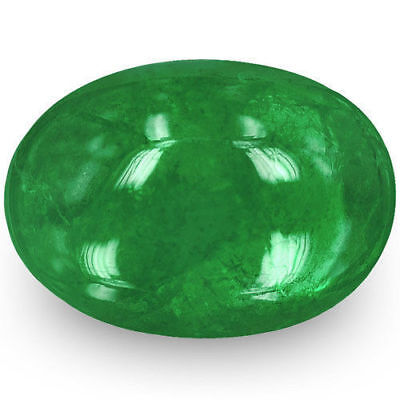ZAMBIA Emerald 1.66 Cts Natural Untreated Deep Green Oval