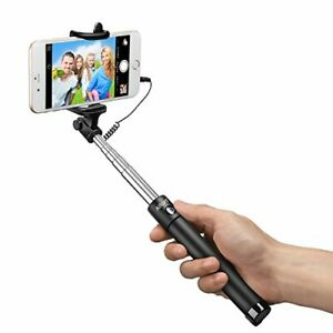 NEW - Foldable Pocket Size Wired Cell Phone Selfie Stick