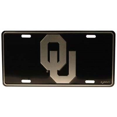 OKLAHOMA SOONERS ELITE CAR TRUCK TAG LICENSE PLATE BLACK METAL SIGN UNIVERSITY - Oklahoma Sooners License Plate