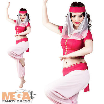 Arabian Princess Ladies Fancy Dress Middle Eastern Arab Womens Costume Outfit