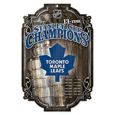 - TORONTO MAPLE LEAFS 13 TIME STANLEY CUP CHAMPS WOOD SIGN 11