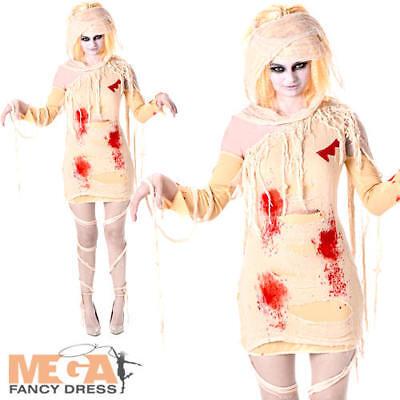 Zombie Mummy Ladies Halloween Fancy Dress Undead Egyptian Womens Adults - Egyptian Mummy Halloween Costumes