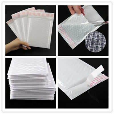 5pcs Chic White Poly Bubble Mailers Padded Envelopes Self Seal Bag 7*9 inch g6