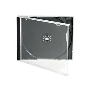 50 Single CD Jewel Case Cases 10mm 10.4mm Black Tray HIGH QUALITY STRONG PLASTIC