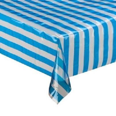 Plastic Disposable Tablecloth Stripe Pattern Table Cover Wedding Party Decor](Disposable Table Cloth)