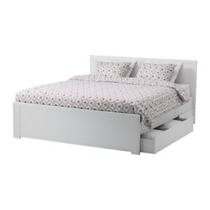 AMAZING DEAL!! Bed frame with 4 storage boxes!!