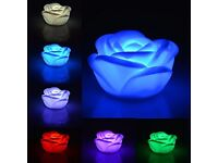 22 Color Changing Rose Flower Night Light, Rose Shape Candle LED and ivory beads accessories