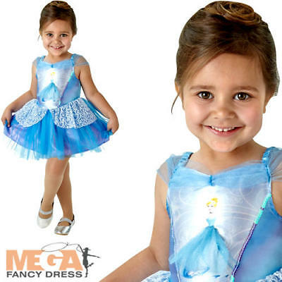 Ballerina Cinderella Girls Classic Disney Princess Fancy Dress Child Costume (Disney Cinderella Ballerina Kostüm)