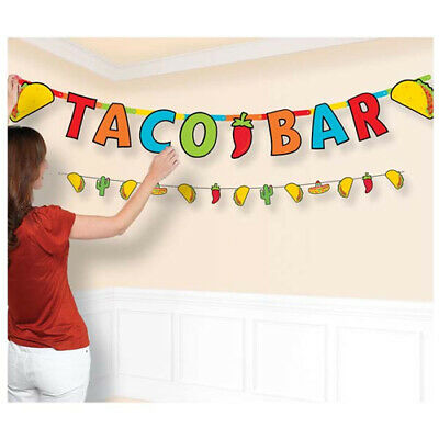 FIESTA TACO BAR JUMBO LETTER BANNER KIT ~ Birthday Party Supplies Decoration](Fiesta Banner)