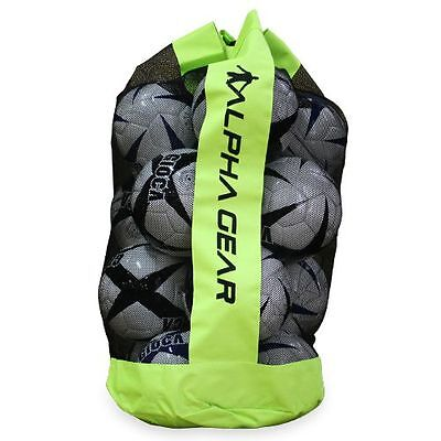 2 x ALPHA Gear - Quality Ball Bag w Carry Strap Fit 12 x Full Size Soccer Balls