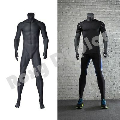Male Fiberglass Headless Athletic Style Mannequin Dress Form Display Mz-ni-2