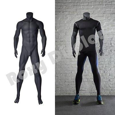 Male Fiberglass Headless Athletic Style Mannequin Dress Form Display Mz-ni-2