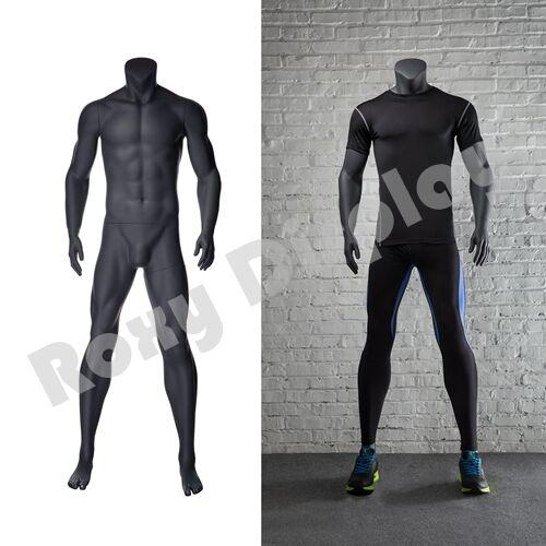 Male Fiberglass Headless Athletic style Mannequin Dress Form Display #MZ-NI-2